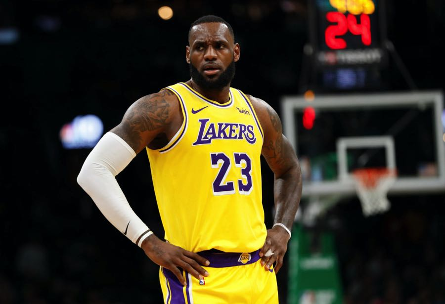 LeBron James de los Lakers.